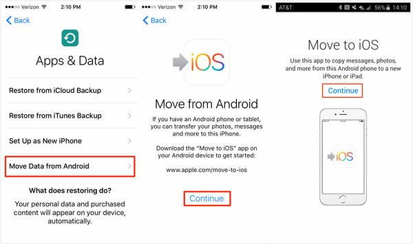 Move Data from Android