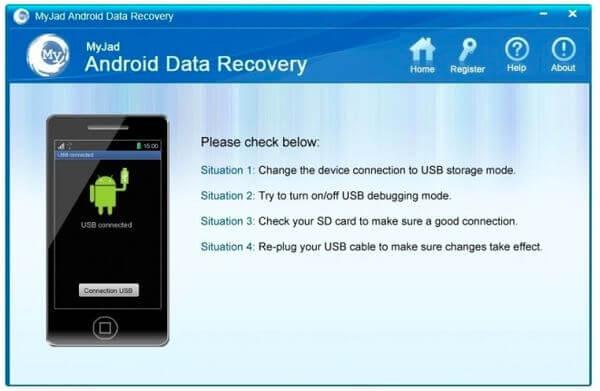 MyJad Android Datenwiederherstellung