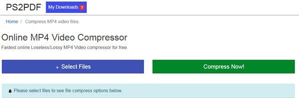 MP4 Video Compressor en ligne