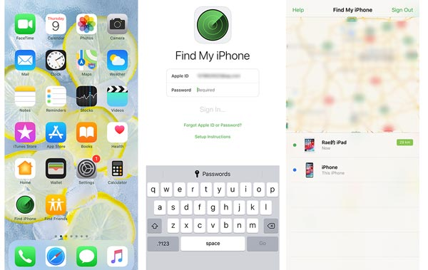 Отслеживание iPhone или iPad