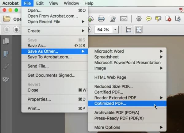 PDFを最適化する