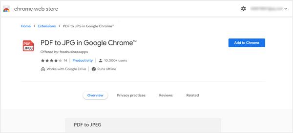 Google Chrome で PDF から JPG に