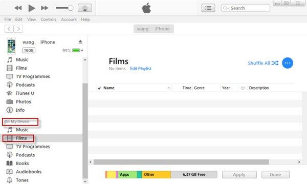 Legen Sie Filme iPad