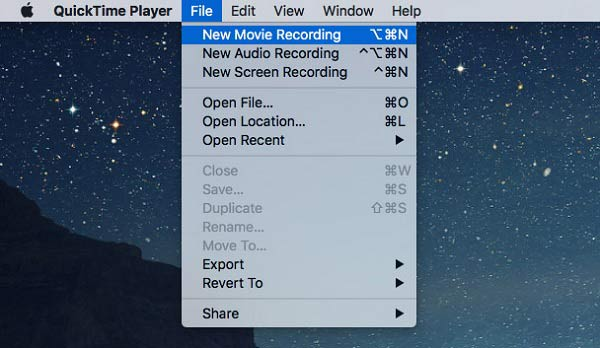 Quicktime Player Open File