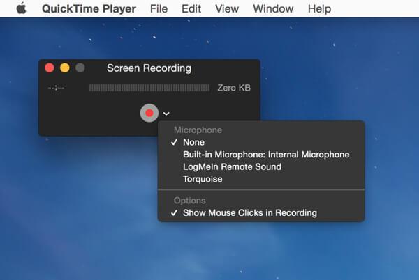 QuickTime-Bildschirmrekorder