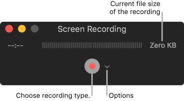 Quicktime-Bildschirmaufzeichnungseinstellungen