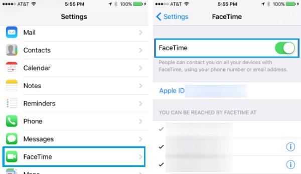 Facetime Endingを再アクティブ化する