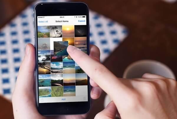 Fotos im iPhone Album neu anordnen