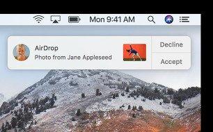 Recevez des photos sur mac airdrop