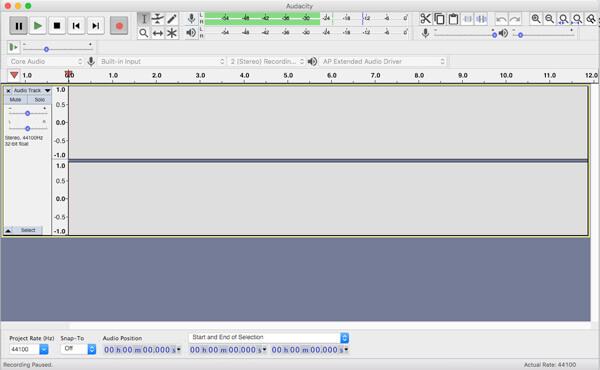 Enregistrer Audio Audacity Mac