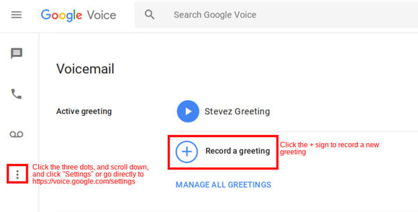 Record Google Voice