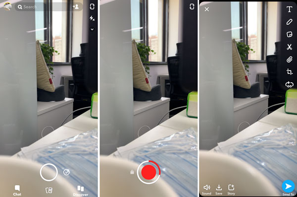 Nehmen Sie ein kurzes Snapchat-Video auf