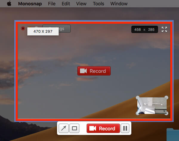 Record video monosnap