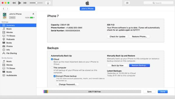 Gelöschter Verlauf vom iPhone mit iTunes wiederherstellen
