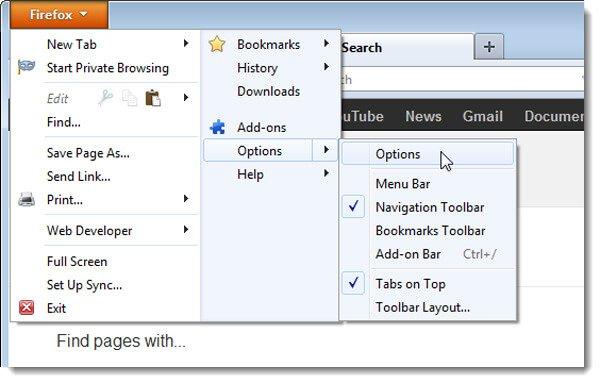 Wiederherstellen des Google Mail-Kontos in Firefox