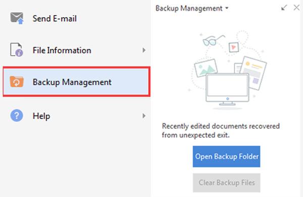 Stellen Sie nicht gespeicherte wps-Dateien aus dem Backup wieder her