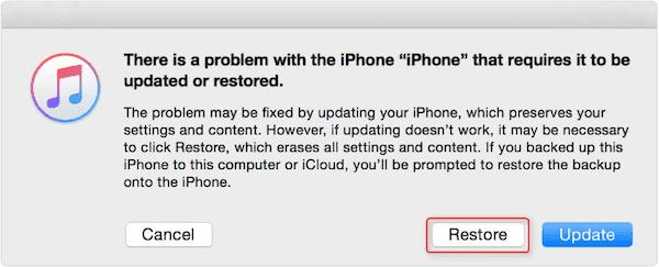 Restaurer l'iPhone
