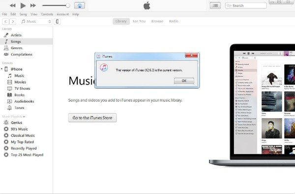 Starten Sie iTunes erneut