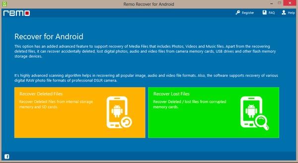 Remo wiederherstellen für Android