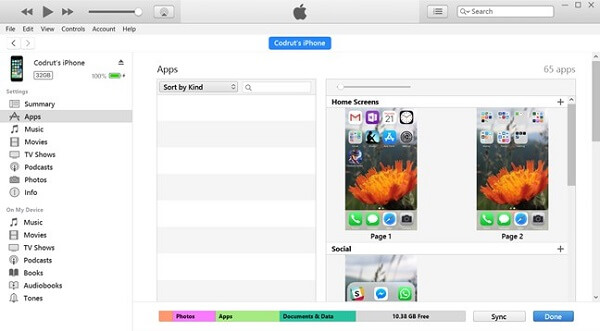 Désinstaller des applications via iTunes