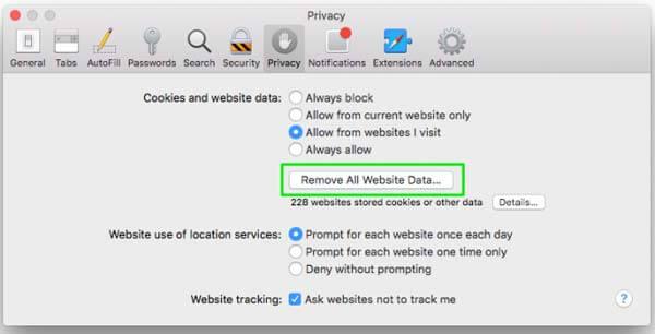 Supprimer les données Mac