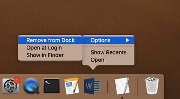 Remove Office Application From Dock