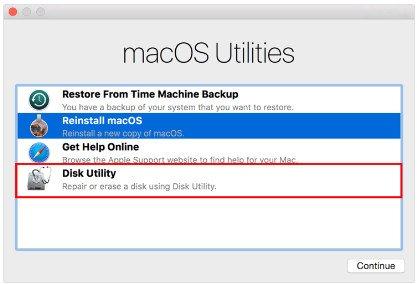 Reparieren Sie die Festplatte mac