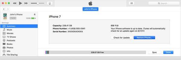 iTunesでiPhoneをリセットする