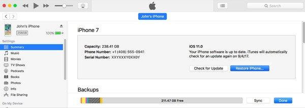 Supprimer un mot de passe oublié de l'iPad