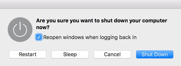 Starten Sie einen Mac neu