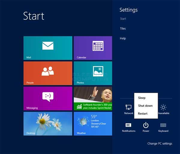 Starten Sie Windows neu