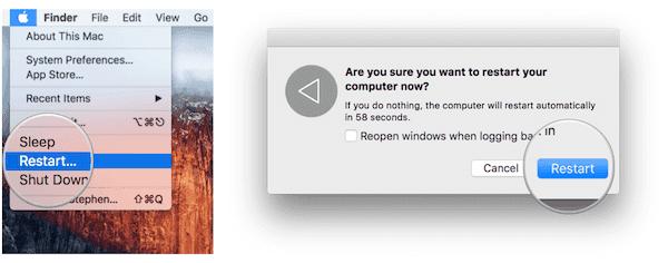 Starten Sie Ihren Mac neu