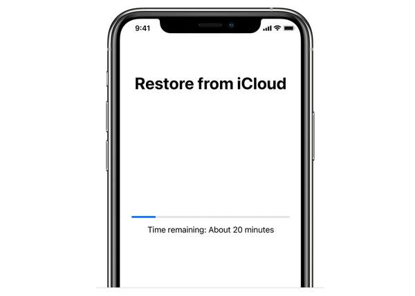 Wiederherstellung aus iCloud läuft