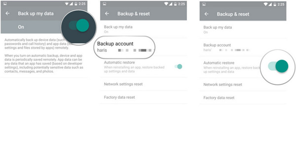 Restore Google Cloud backup
