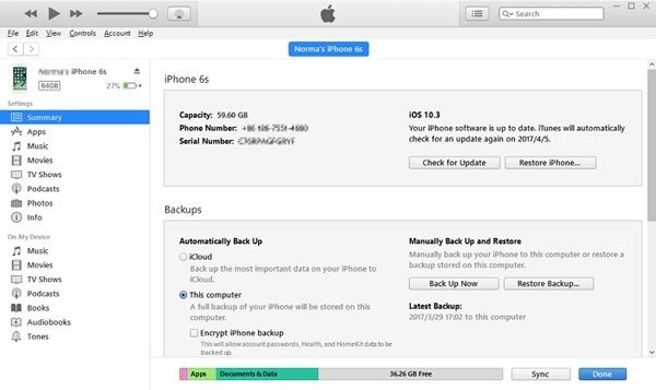 iTunesからInstagramのメッセージを復元する