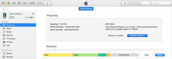 Wiederherstellen iPhone