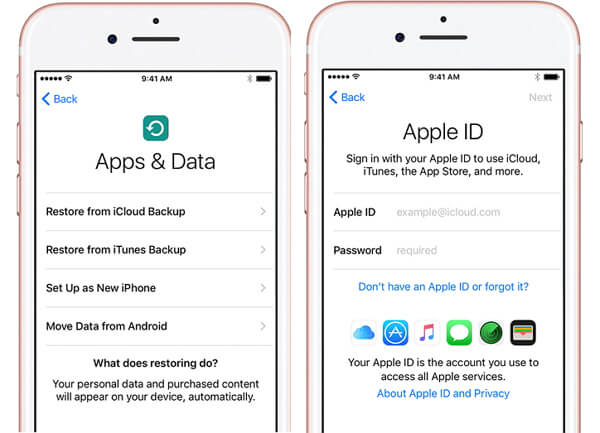 Restore iPhone with iCloud