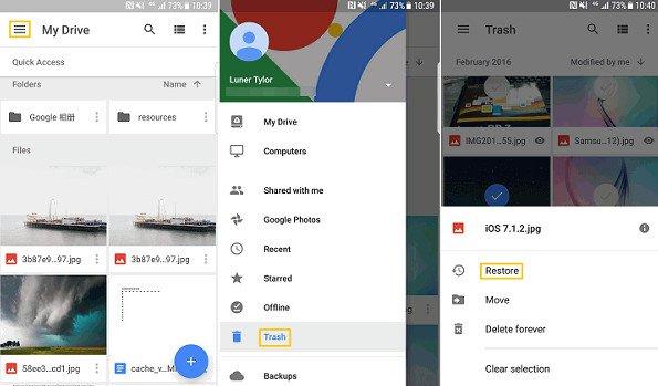 Récupérer des vidéos de Google Photos