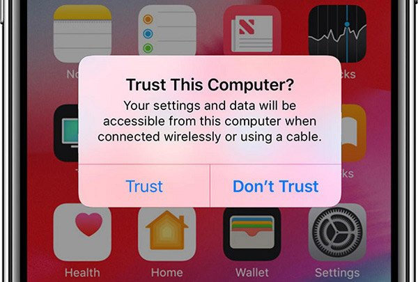 Iphone erneut vertrauen