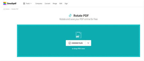 PDFをオンラインで回転するsmallpdf