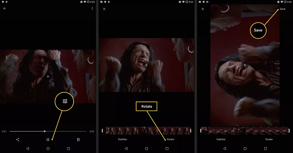 ビデオを回転Google Photos