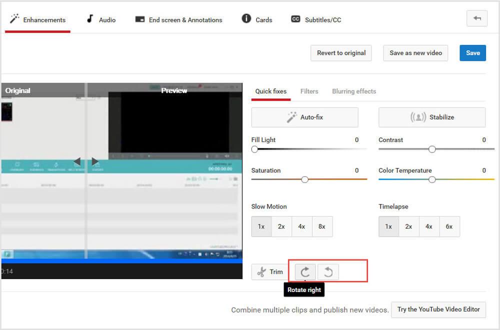 Video mit YouTube Video Editor drehen