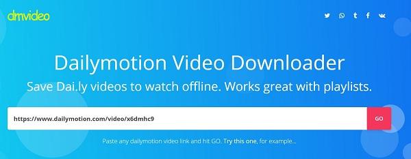 Speichern Sie ein Dailymotion-Video online