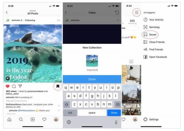 Speichern Sie Instagram-Videos, um sie später anzusehen