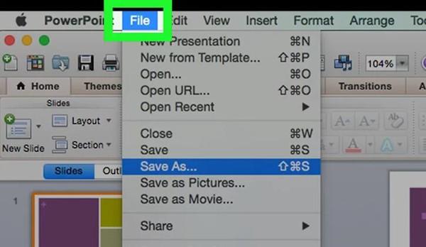 PowerPointファイルを保存する