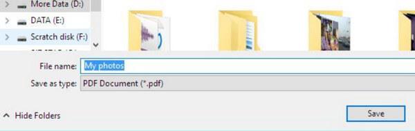 PDFを保存する