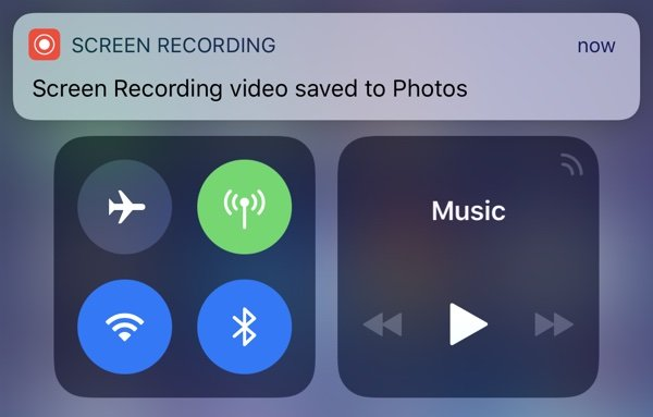 Screen recording save
