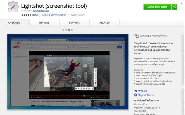 Lightshotを使ったLenovoのスクリーンショット