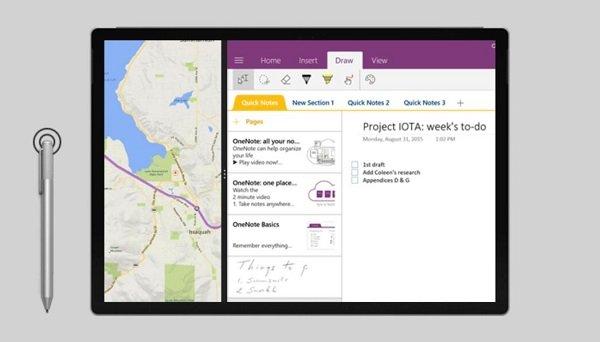 Capture d'écran Surface Pro avec stylo