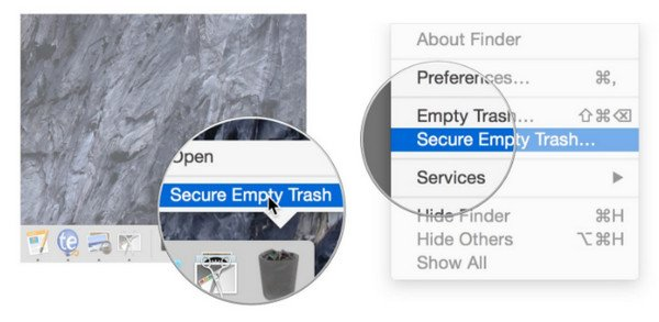 Secure empty Trash on Mac